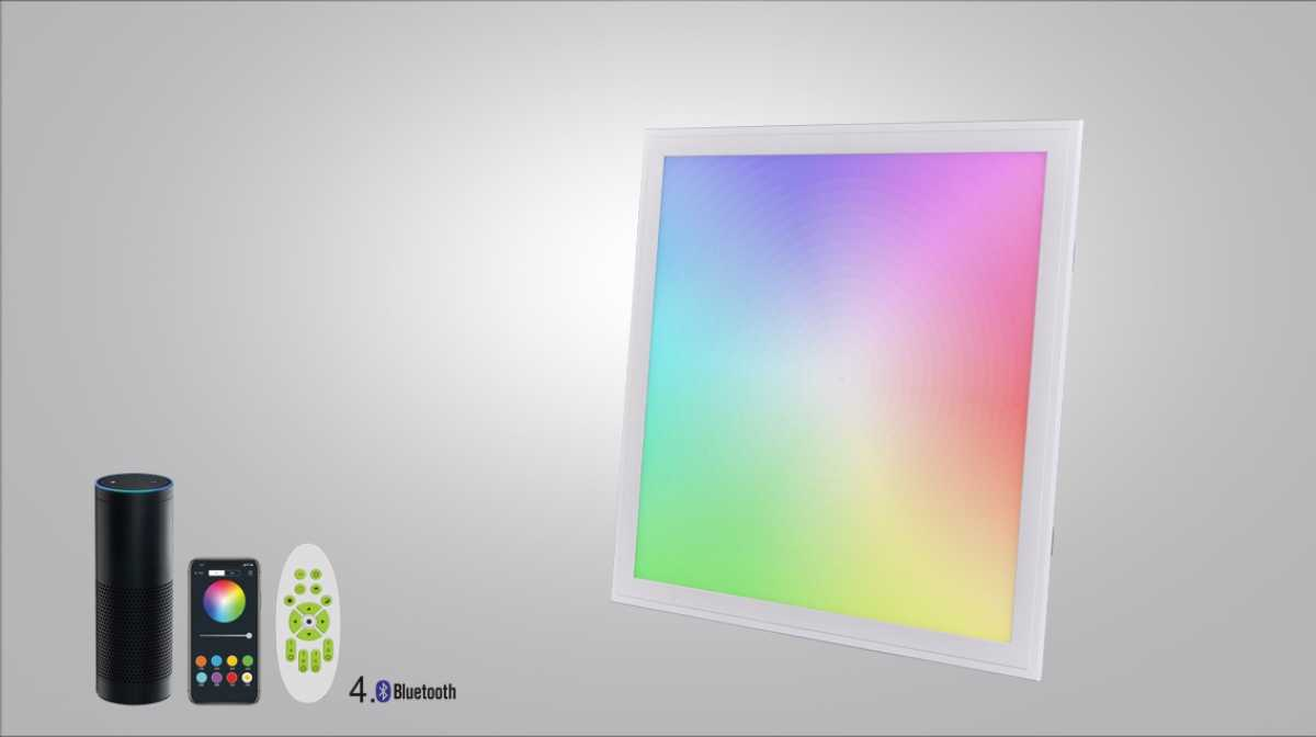 LED Panel Deckenpanel RGB+CCT(2700K-6500K), APP control smart panel, 40W+RGB10W, Bluetooth APP